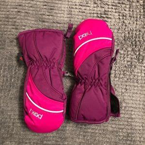 Fleece lined insulated mittens